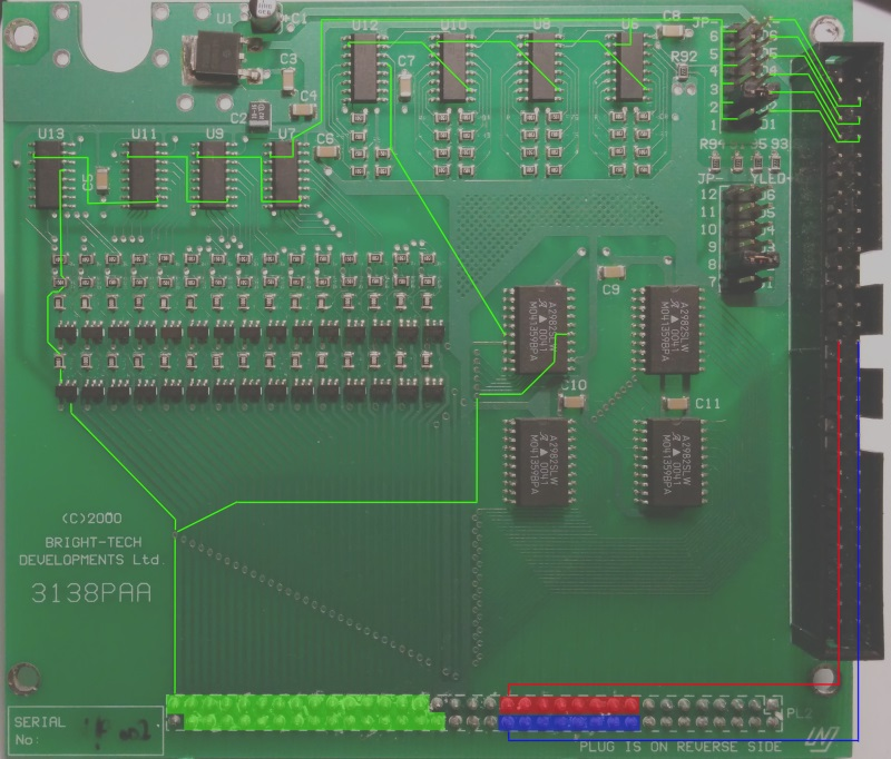 Annotated PCB on the attached board