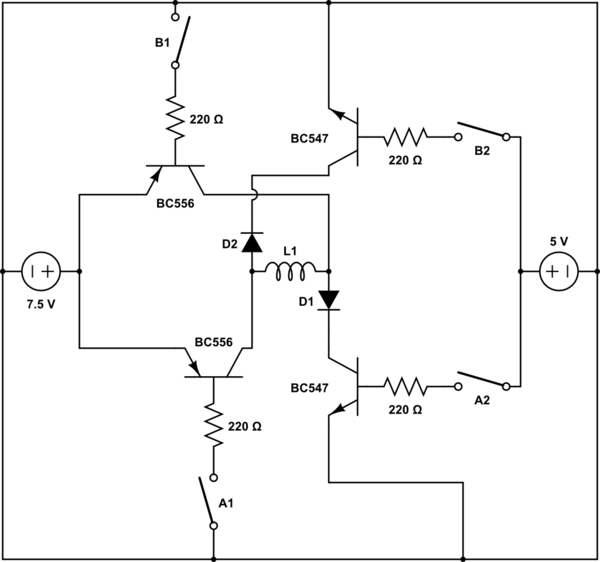 Single dot circuit schematic