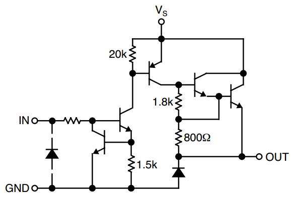 Single output circuit in Micrel 2981